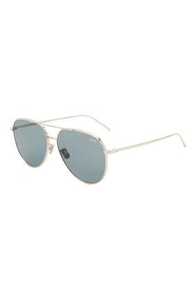 Мужские солнцезащитные очки BERLUTI серебряного цвета, арт. BL 40010U | Фото 1