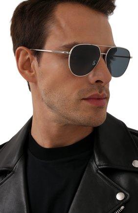 Мужские солнцезащитные очки BERLUTI серебряного цвета, арт. BL 40010U | Фото 2