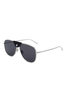 Мужские солнцезащитные очки BERLUTI черного цвета, арт. BL 40030U | Фото 1