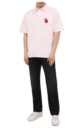 Мужское хлопковое поло loewe x paula's ibiza LOEWE светло-розового цвета, арт. H616Y26X02 | Фото 2