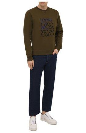 Мужские джинсы LOEWE синего цвета, арт. H526Y11X02 | Фото 2