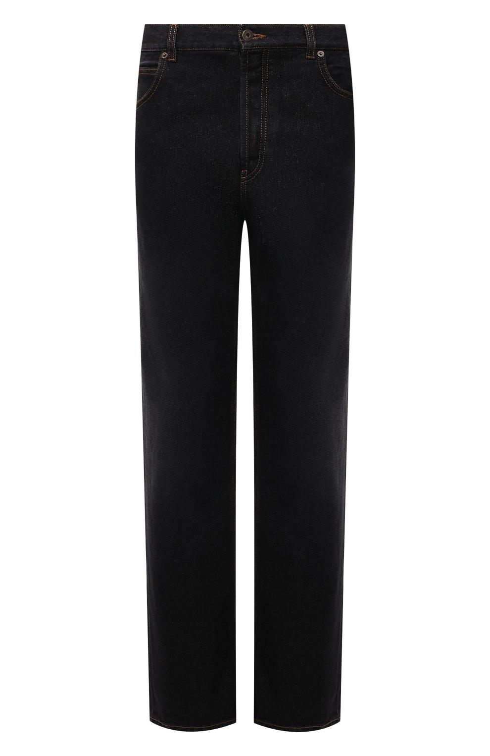 Мужские джинсы LOEWE черного цвета, арт. H526Y04W46 | Фото 1 (Силуэт М (брюки): Широкие; Кросс-КТ: Деним; Длина (брюки, джинсы): Стандартные; Материал внешний: Хлопок; Стили: Минимализм)