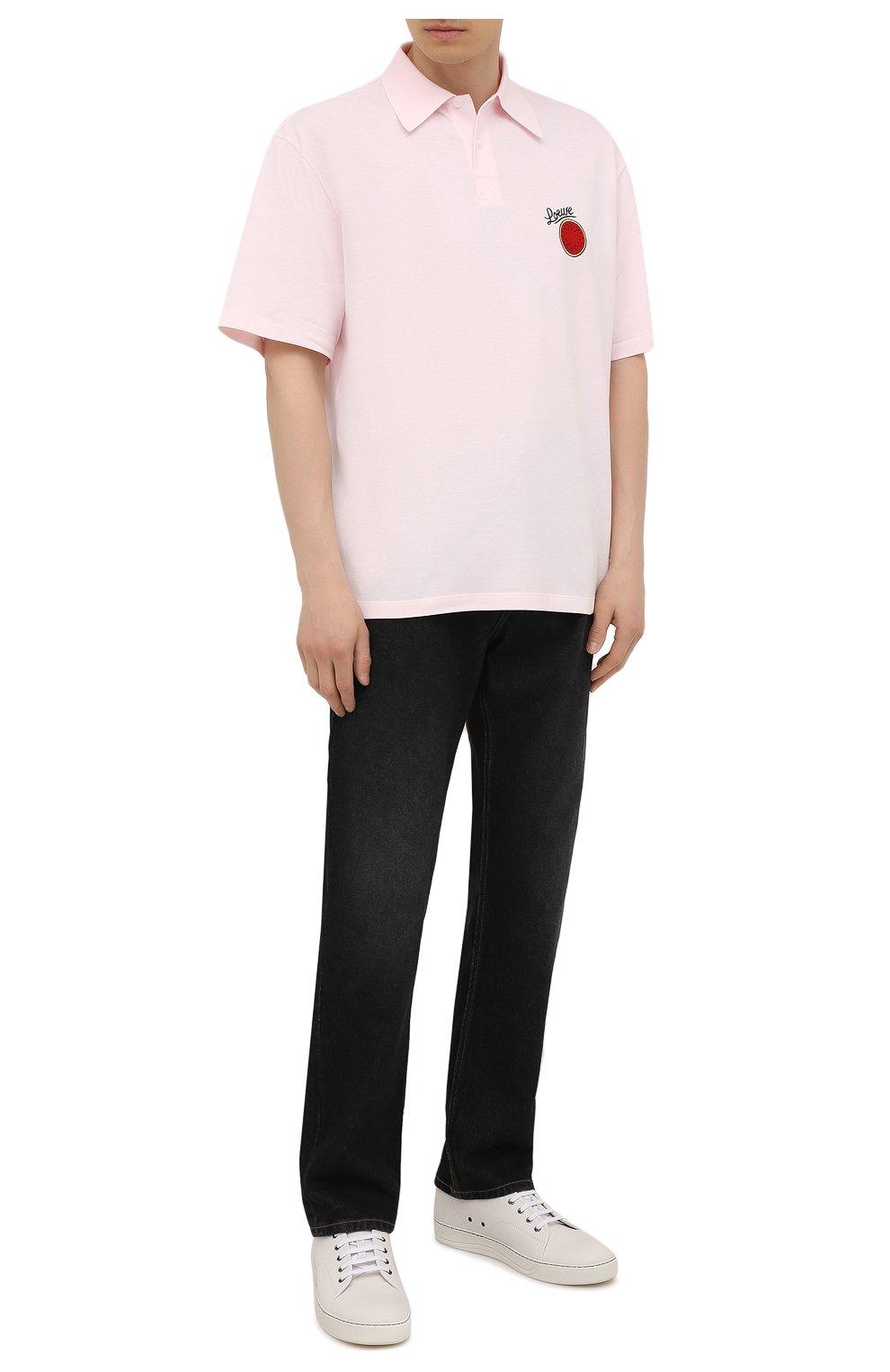 Мужские джинсы LOEWE черного цвета, арт. H526Y04W46 | Фото 2 (Силуэт М (брюки): Широкие; Кросс-КТ: Деним; Длина (брюки, джинсы): Стандартные; Материал внешний: Хлопок; Стили: Минимализм)
