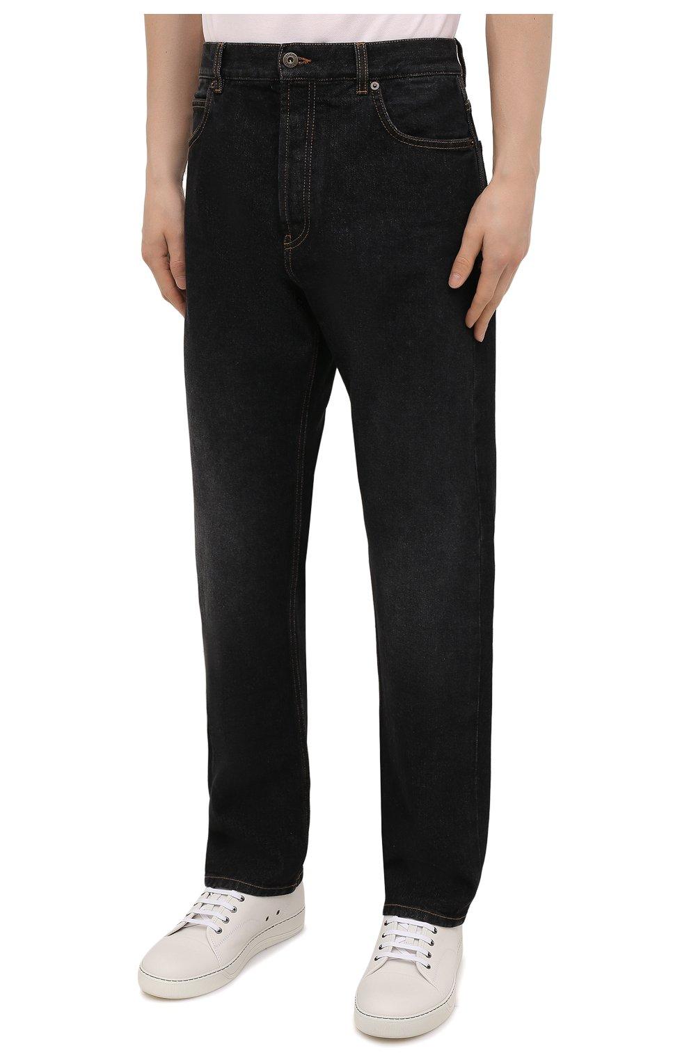 Мужские джинсы LOEWE черного цвета, арт. H526Y04W46 | Фото 3 (Силуэт М (брюки): Широкие; Кросс-КТ: Деним; Длина (брюки, джинсы): Стандартные; Материал внешний: Хлопок; Стили: Минимализм)