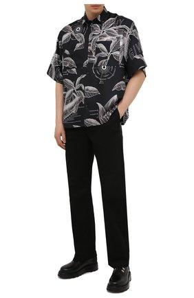 Мужские хлопковые брюки LOEWE черного цвета, арт. H526Y04W22 | Фото 2