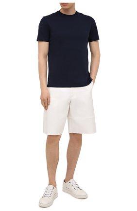 Мужская хлопковая футболка RALPH LAUREN темно-синего цвета, арт. 790508153   Фото 2 (Материал внешний: Хлопок; Длина (для топов): Стандартные; Рукава: Короткие; Стили: Кэжуэл; Принт: Без принта, Однотонные)