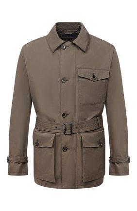 Мужская хлопковая куртка RALPH LAUREN хаки цвета, арт. 790841406 | Фото 1 (Материал подклада: Хлопок; Материал внешний: Хлопок; Длина (верхняя одежда): Короткие; Рукава: Длинные; Кросс-КТ: Куртка, Ветровка; Стили: Кэжуэл)