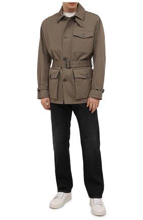 Мужская хлопковая куртка RALPH LAUREN хаки цвета, арт. 790841406 | Фото 2 (Материал подклада: Хлопок; Материал внешний: Хлопок; Длина (верхняя одежда): Короткие; Рукава: Длинные; Кросс-КТ: Куртка, Ветровка; Стили: Кэжуэл)