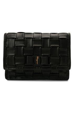 Женская сумка viva bow SALVATORE FERRAGAMO черного цвета, арт. Z-0739066   Фото 1