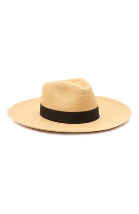 Женская шляпа fedora COCOSHNICK HEADDRESS бежевого цвета, арт. Fedorastraw | Фото 1 (Материал: Растительное волокно)