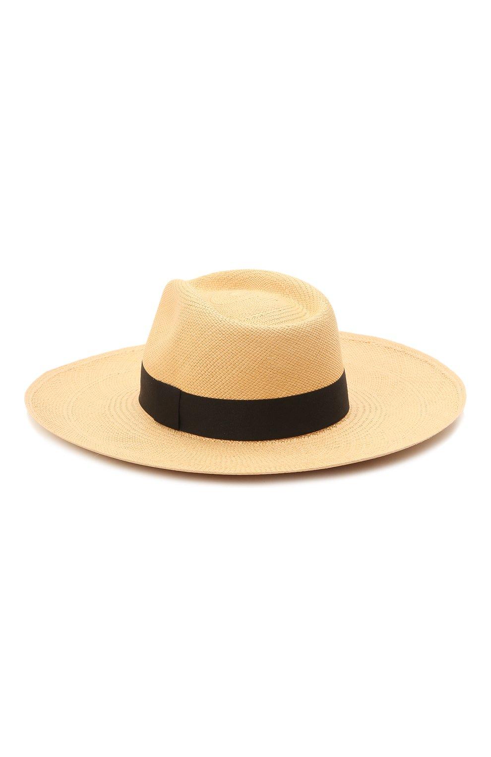 Женская шляпа fedora COCOSHNICK HEADDRESS бежевого цвета, арт. Fedorastraw | Фото 2 (Материал: Растительное волокно)
