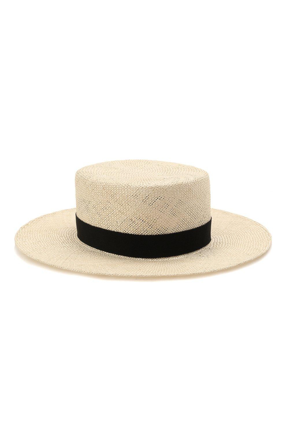Женская шляпа kanotie COCOSHNICK HEADDRESS светло-бежевого цвета, арт. Kanotiestraw   Фото 1 (Материал: Растительное волокно)