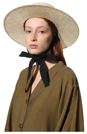 Женская шляпа kanotie COCOSHNICK HEADDRESS светло-бежевого цвета, арт. Kanotiestraw   Фото 2 (Материал: Растительное волокно)
