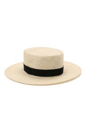 Женская шляпа kanotie COCOSHNICK HEADDRESS светло-бежевого цвета, арт. Kanotiestraw   Фото 3 (Материал: Растительное волокно)