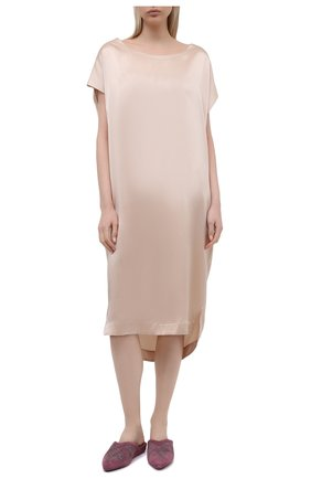 Женская шелковая сорочка MARJOLAINE светло-бежевого цвета, арт. 3SOI3414 | Фото 2