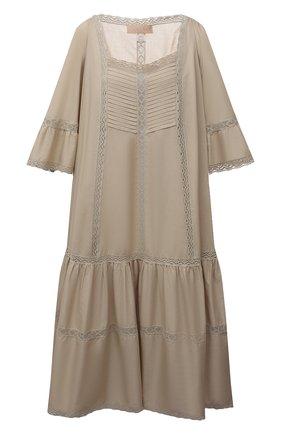 Женское хлопковое платье RUBAN бежевого цвета, арт. RPSU21-11.1.54.3   Фото 1