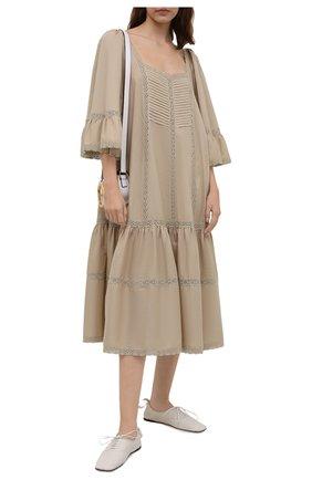 Женское хлопковое платье RUBAN бежевого цвета, арт. RPSU21-11.1.54.3   Фото 2