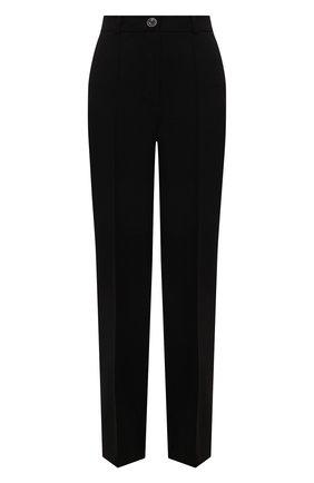 Женские брюки LESYANEBO черного цвета, арт. SS21/Н-157/W | Фото 1 (Материал внешний: Синтетический материал, Вискоза; Длина (брюки, джинсы): Удлиненные; Стили: Гламурный; Женское Кросс-КТ: Брюки-одежда; Силуэт Ж (брюки и джинсы): Широкие)