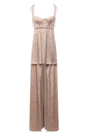 Женское шелковое платье RUBAN светло-розового цвета, арт. RТS21-12.1.52.0.6   Фото 1