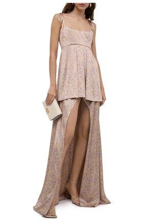 Женское шелковое платье RUBAN светло-розового цвета, арт. RТS21-12.1.52.0.6   Фото 2