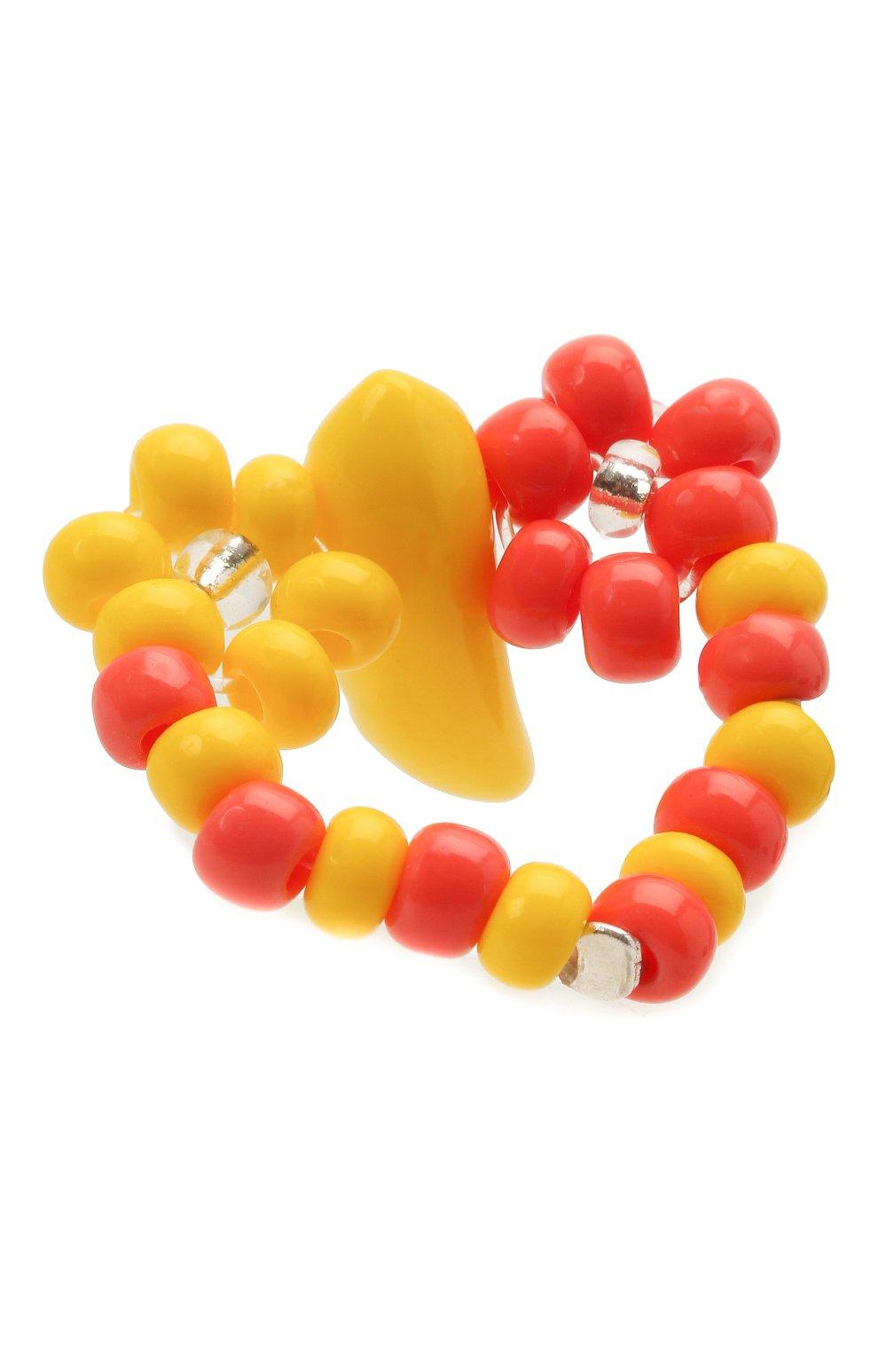 Женское кольцо банан HIAYNDERFYT разноцветного цвета, арт. 1-1OYBNG | Фото 2 (Материал: Стекло)