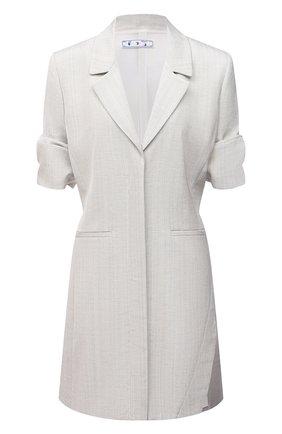 Женское платье из вискозы OFF-WHITE светло-серого цвета, арт. 0WDB303R21FAB001 | Фото 1