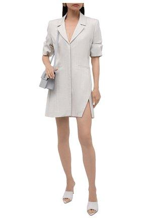 Женское платье из вискозы OFF-WHITE светло-серого цвета, арт. 0WDB303R21FAB001 | Фото 2