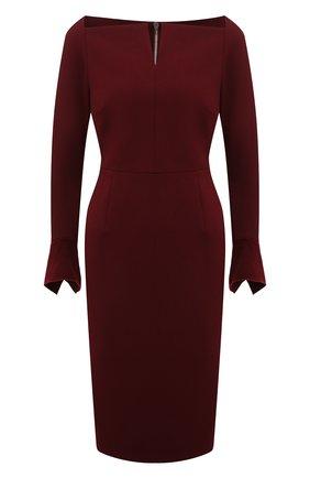 Женское платье ROLAND MOURET бордового цвета, арт. EW21/S2256/F0509   Фото 1