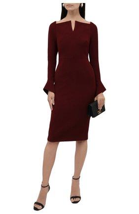 Женское платье ROLAND MOURET бордового цвета, арт. EW21/S2256/F0509   Фото 2