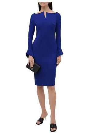 Женское платье ROLAND MOURET синего цвета, арт. EW21/S2256/F0509   Фото 2