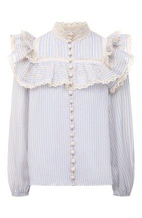 Женская блузка ZIMMERMANN светло-голубого цвета, арт. 1378TALI   Фото 1