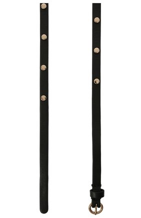 Женский кожаный ремень REDVALENTINO черного цвета, арт. WQ2T0B43/BDW | Фото 2 (Кросс-КТ: Тонкие)
