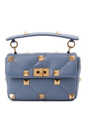 Женская сумка roman stud medium VALENTINO голубого цвета, арт. WW2B0I82/BSF | Фото 1