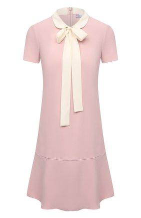 Женское платье REDVALENTINO светло-розового цвета, арт. WR3VAF05/3TG   Фото 1 (Материал внешний: Синтетический материал; Случай: Формальный; Стили: Романтичный; Рукава: Короткие; Женское Кросс-КТ: Платье-одежда; Длина Ж (юбки, платья, шорты): Мини)