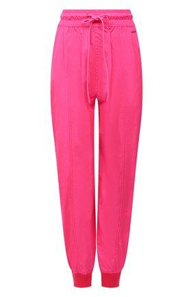 Женские джоггеры REDVALENTINO фуксия цвета, арт. WR3RBE50/1FP   Фото 1 (Материал внешний: Синтетический материал; Женское Кросс-КТ: Джоггеры - брюки; Стили: Спорт-шик; Длина (брюки, джинсы): Укороченные; Силуэт Ж (брюки и джинсы): Джоггеры)