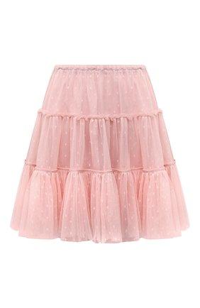 Женская юбка REDVALENTINO светло-розового цвета, арт. WR3RAG85/5MM   Фото 1 (Материал внешний: Синтетический материал; Материал подклада: Синтетический материал; Стили: Романтичный; Женское Кросс-КТ: Юбка-одежда; Длина Ж (юбки, платья, шорты): Мини)
