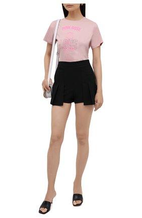Женская хлопковая футболка REDVALENTINO светло-розового цвета, арт. WR3MG11C/61U   Фото 2 (Материал внешний: Хлопок; Длина (для топов): Стандартные; Стили: Спорт-шик; Рукава: Короткие; Женское Кросс-КТ: Футболка-одежда; Принт: С принтом)