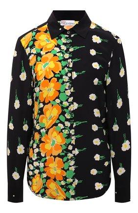 Женская шелковая рубашка REDVALENTINO разноцветного цвета, арт. WR3ABG65/608 | Фото 1 (Материал внешний: Шелк; Рукава: Длинные; Длина (для топов): Стандартные; Женское Кросс-КТ: Рубашка-одежда; Стили: Гламурный; Принт: С принтом)