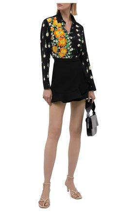 Женская шелковая рубашка REDVALENTINO разноцветного цвета, арт. WR3ABG65/608 | Фото 2 (Материал внешний: Шелк; Рукава: Длинные; Длина (для топов): Стандартные; Женское Кросс-КТ: Рубашка-одежда; Стили: Гламурный; Принт: С принтом)