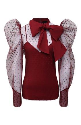 Женская блузка REDVALENTINO бордового цвета, арт. WR3ABG40/62H   Фото 1
