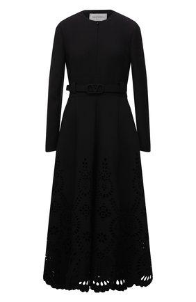 Женское платье из шерсти и шелка VALENTINO черного цвета, арт. WB3VAW636GR | Фото 1