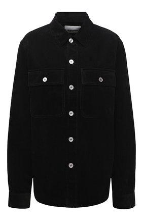 Женская хлопковая рубашка JIL SANDER черного цвета, арт. JPPT600105-WT243014   Фото 1