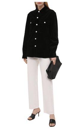 Женская хлопковая рубашка JIL SANDER черного цвета, арт. JPPT600105-WT243014   Фото 2
