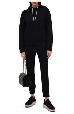 Женские хлопковые джоггеры JIL SANDER черного цвета, арт. JPPT727517-WT248608   Фото 2