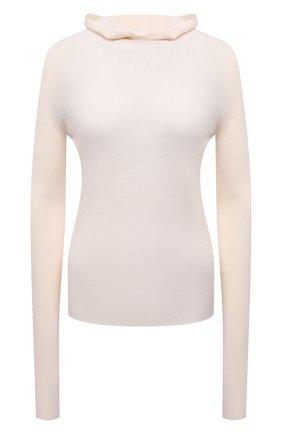 Женская шерстяная водолазка JIL SANDER кремвого цвета, арт. JPPT754500-WTY20068   Фото 1 (Рукава: Длинные; Материал внешний: Шерсть; Длина (для топов): Стандартные; Стили: Минимализм; Женское Кросс-КТ: Водолазка-одежда)