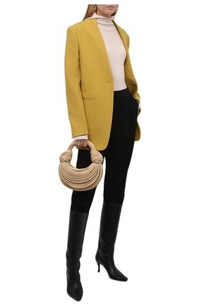 Женская шерстяная водолазка JIL SANDER белого цвета, арт. JPPT754500-WTY20068 | Фото 2 (Рукава: Длинные; Материал внешний: Шерсть; Длина (для топов): Стандартные; Стили: Минимализм; Женское Кросс-КТ: Водолазка-одежда)