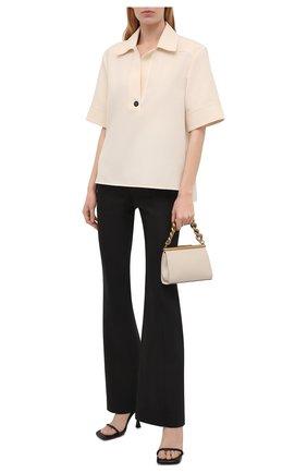 Женская блузка JIL SANDER кремвого цвета, арт. JSCT561206-WT440200   Фото 2