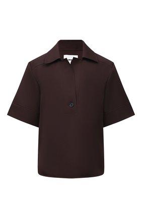 Женская блузка JIL SANDER коричневого цвета, арт. JSCT561206-WT440200   Фото 1