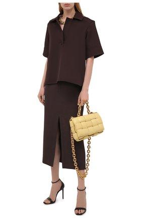 Женская блузка JIL SANDER коричневого цвета, арт. JSCT561206-WT440200   Фото 2