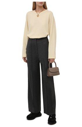 Женский кашемировый пуловер JIL SANDER  цвета, арт. JSCT754028-WTY10008   Фото 2